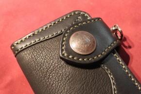 Deerskin inlay wallet